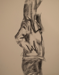 charcoal on drawing paper